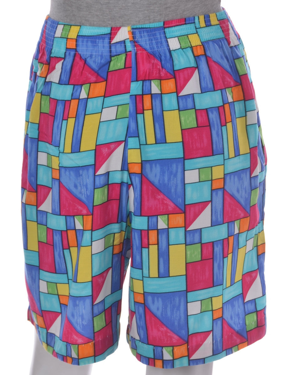 Casual Shorts Multi-colour With Pockets