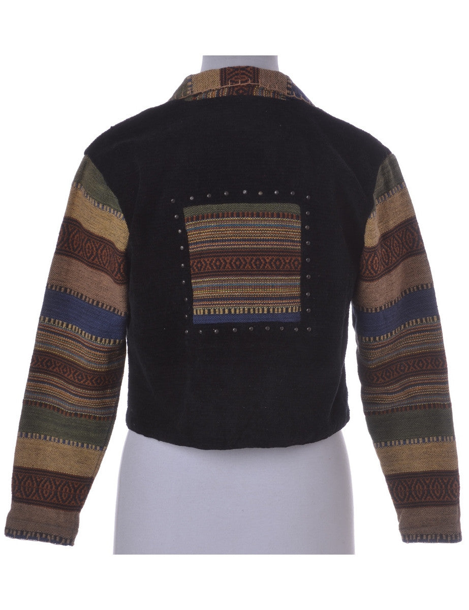 Casual Jacket Multi-colour With A Revere Front