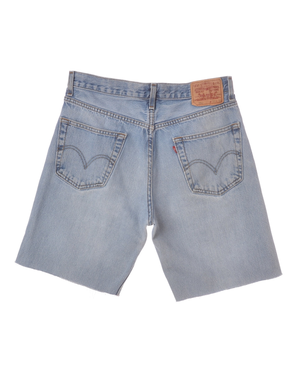 Label Mens Cut Off Denim Shorts