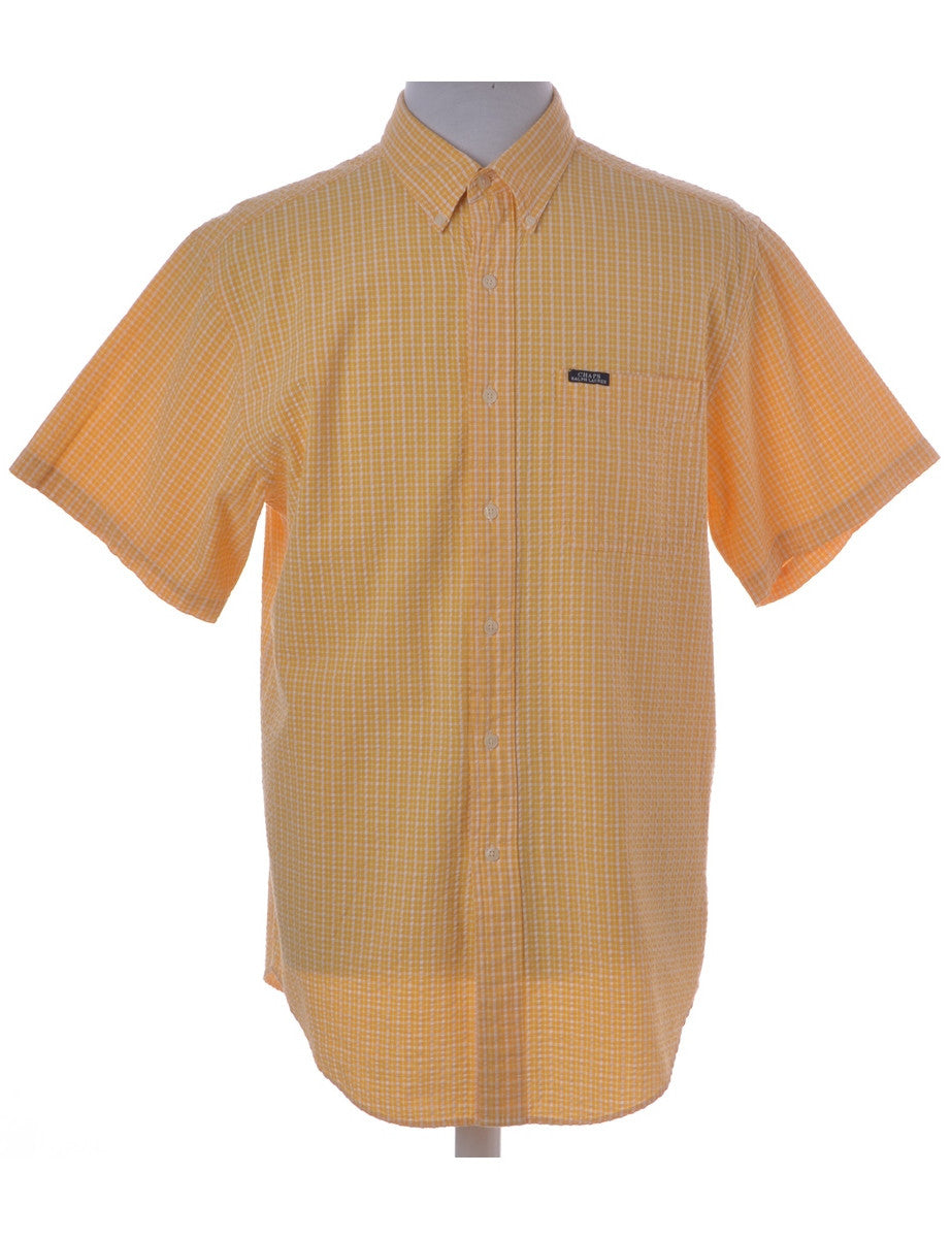 Casual Shirt Yellow With A Button Down Collar