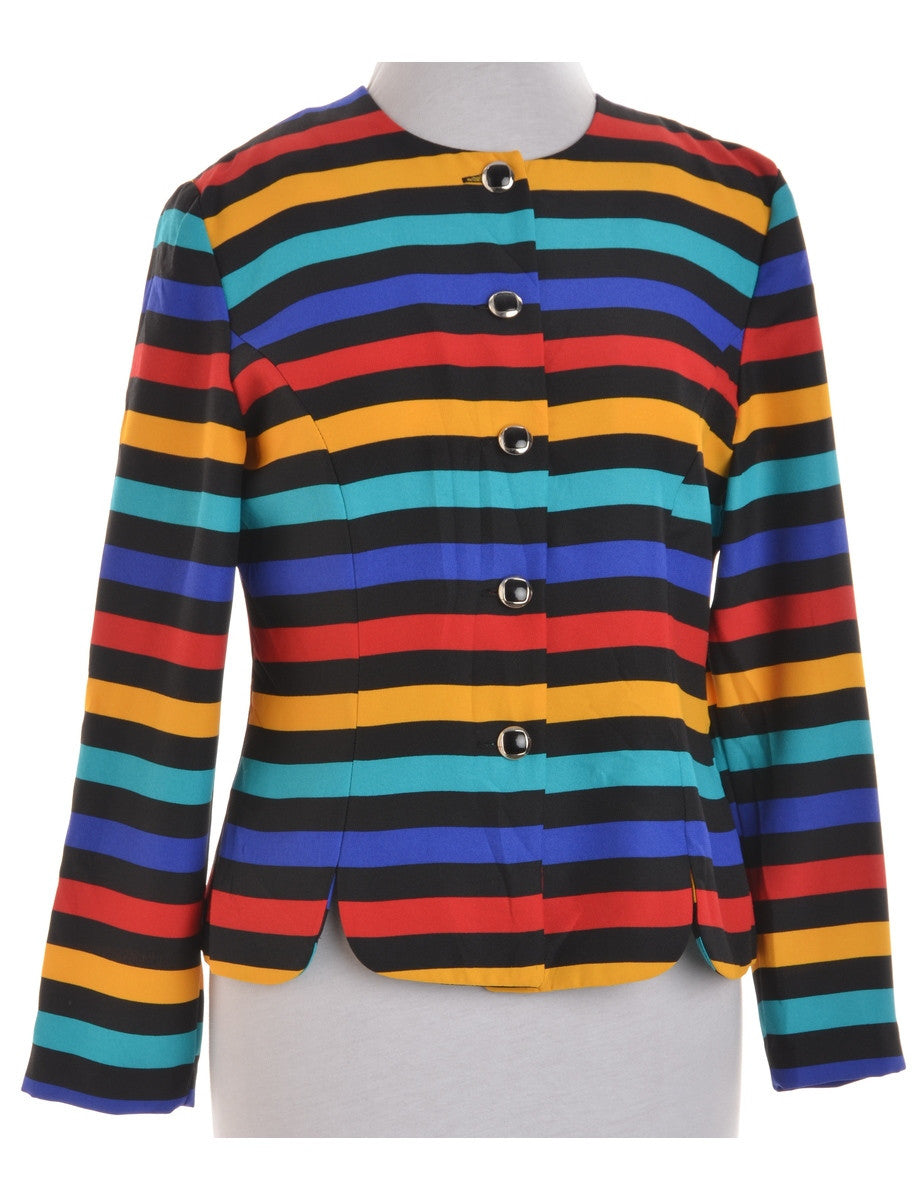 Casual Jacket Multi-colour With Decorative Buttons
