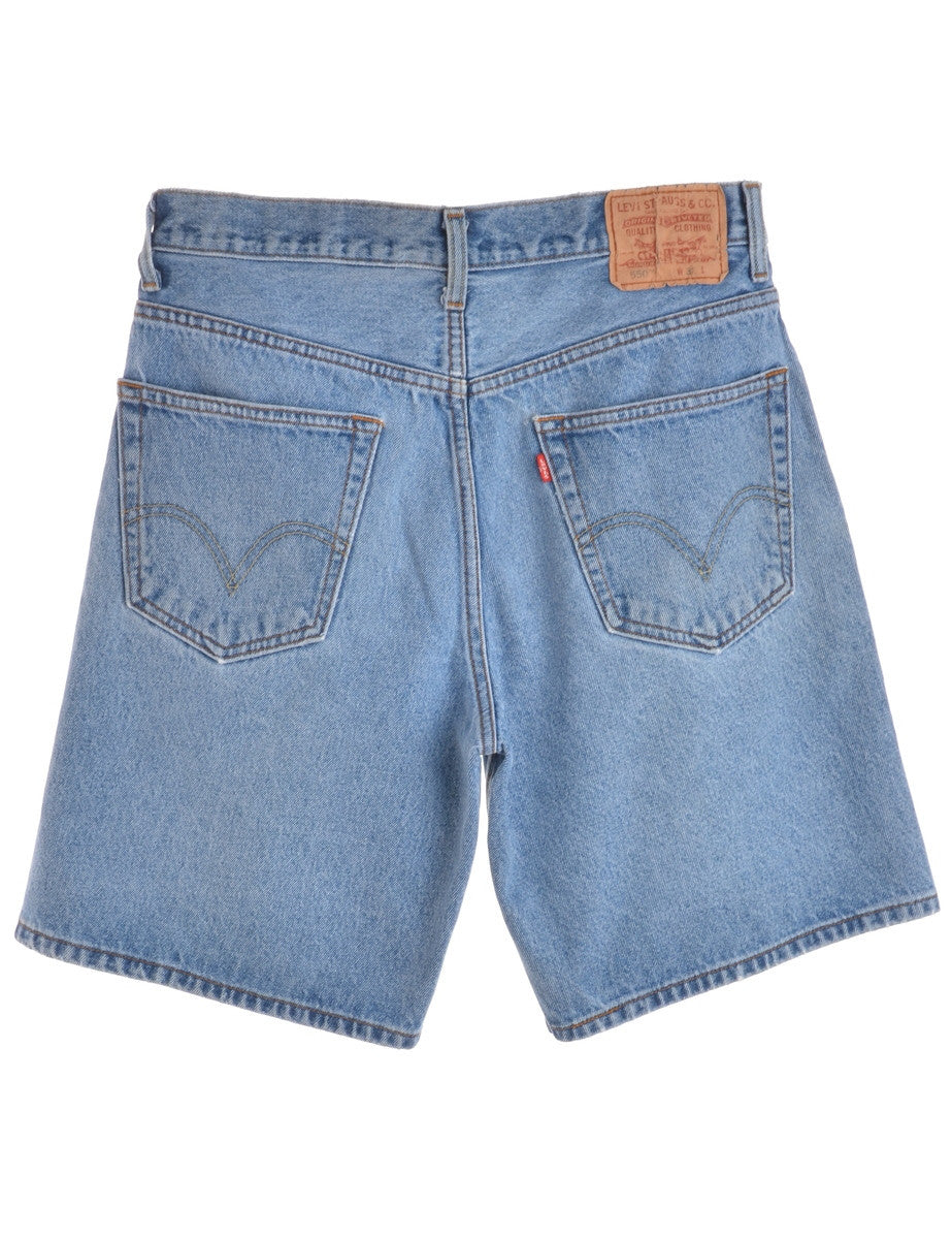 Denim Shorts Stone Wash With Pockets