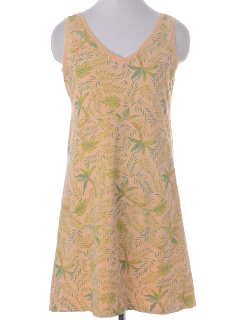 Vintage Summer Dress Pastel Peach With A V-neck