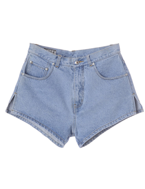 Denim Shorts Stone Wash With Side Vents