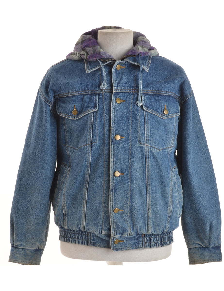 Denim Jacket Washed Indigo With Full Lining