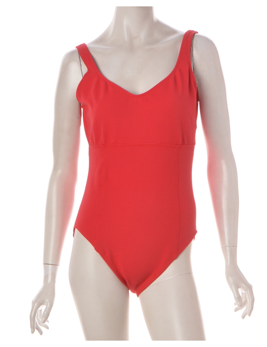 Red One-piece Swimsuit