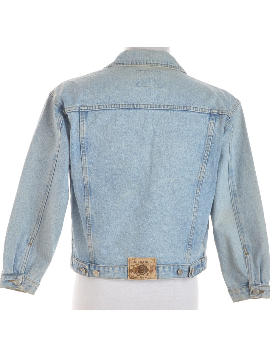 Denim Jacket Faded Wash With Pockets