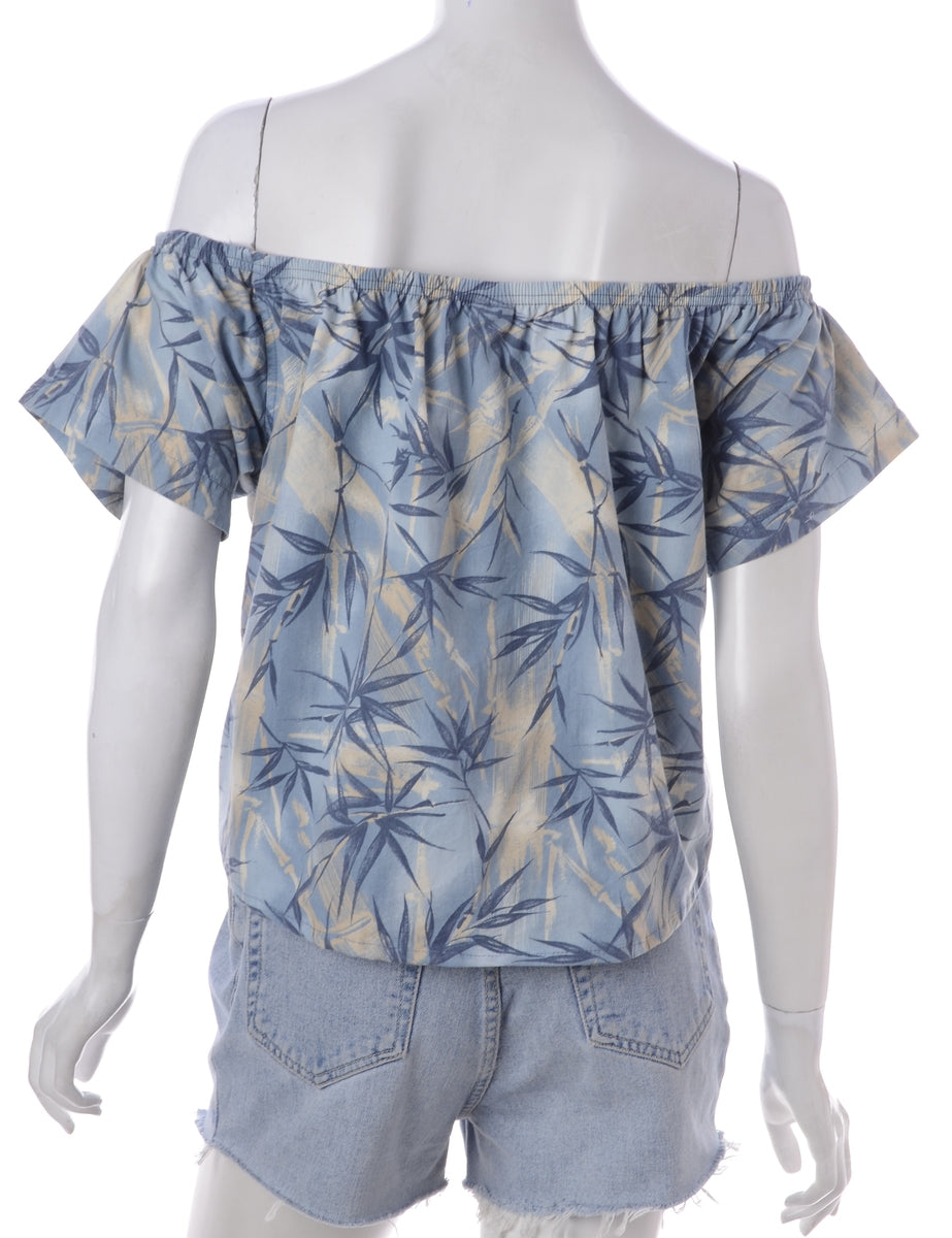Label Hayley Hawaiian Off The Shoulder Top