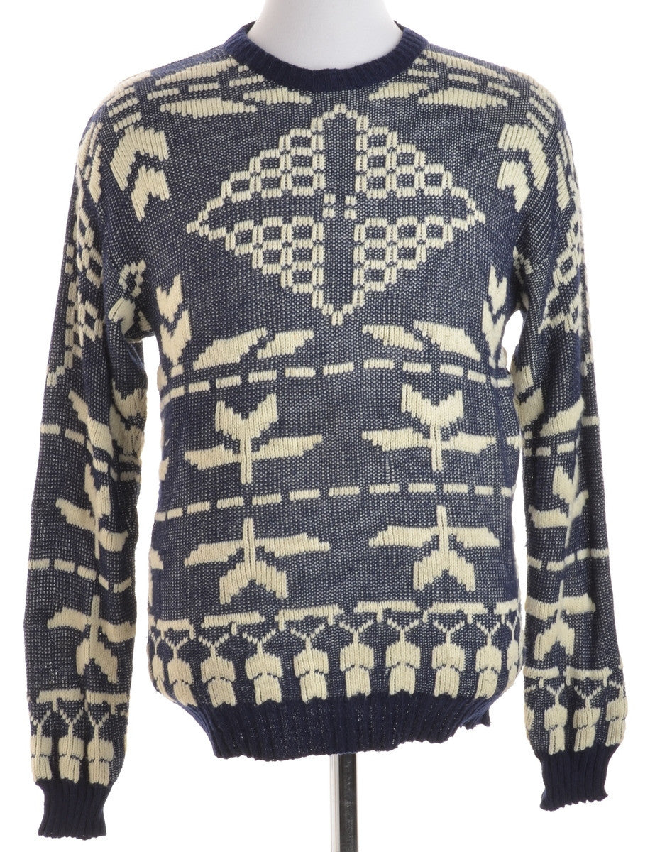 Jumper Navy With A Crew Neck