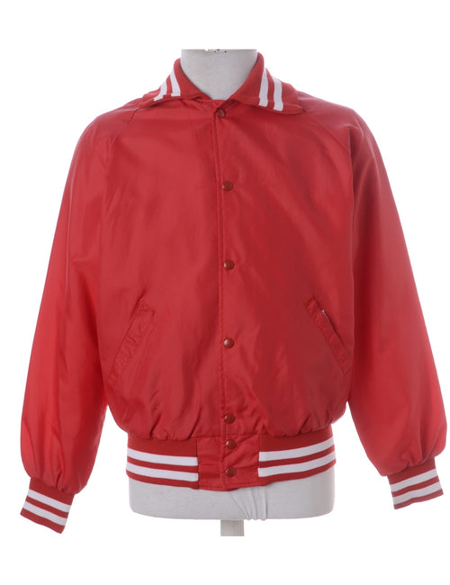 Bomber Jacket Red With Pockets