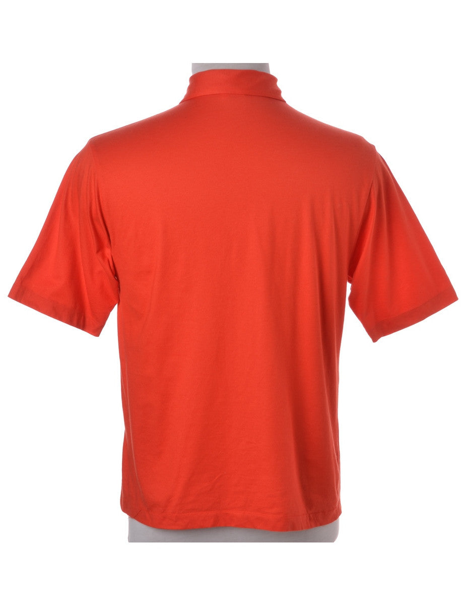 Vintage Polo T-shirt Red With A Chest Pocket