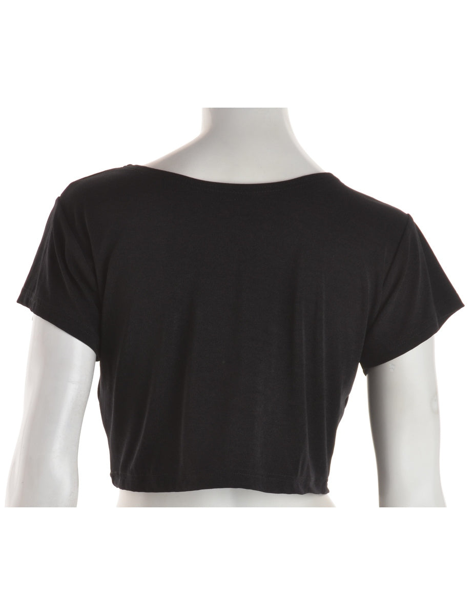Cropped Lycra Tee