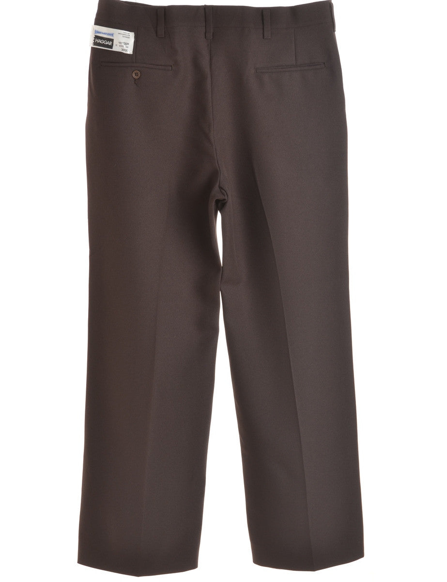 Smart Trousers Brown With Multiple Pockets