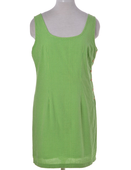 Shift Dress Light Green With A Round Neck