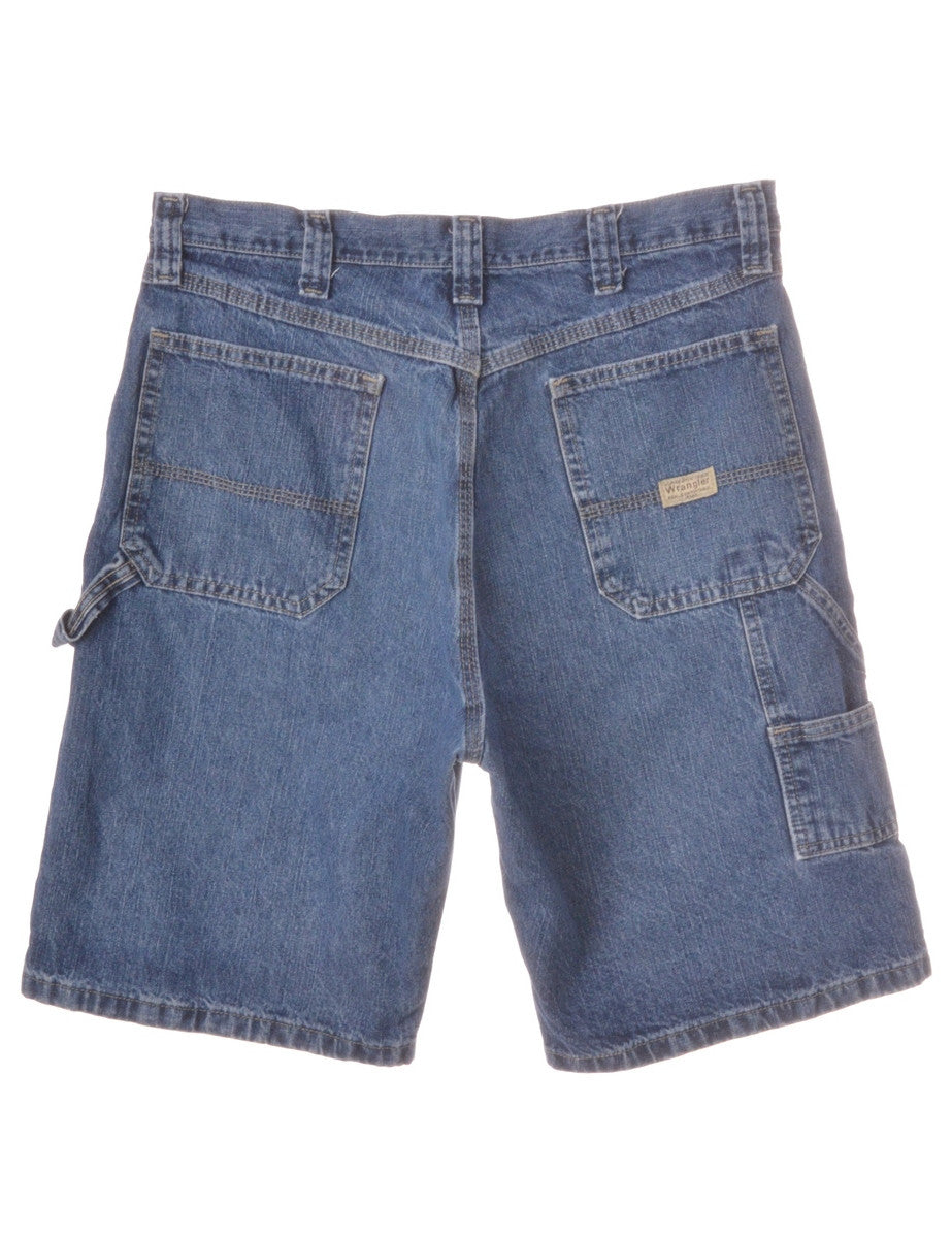 Denim Shorts Stone Wash With Distressed Detailing