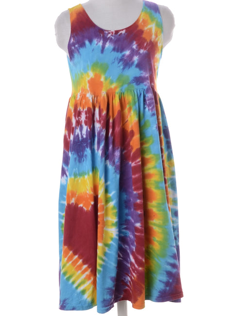 Summer Dress Multi-colour With Ruched Detailing