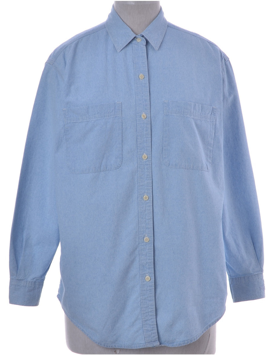 Denim Shirt Unfaded With Two Pockets