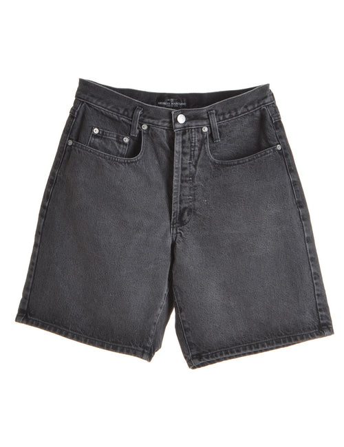 Denim Shorts Black With Multiple Pockets