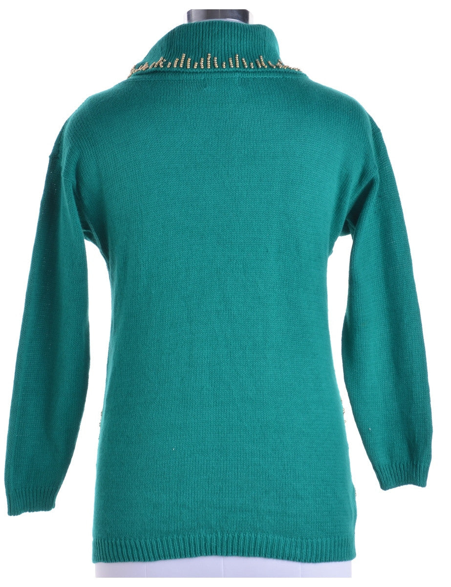 Jumper Turquoise With Beading