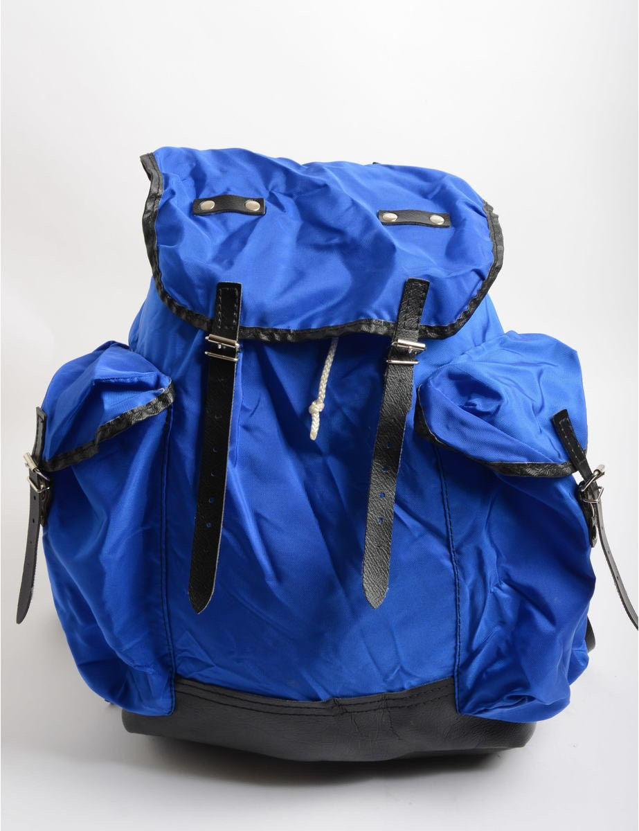 Backpack Blue With Contrasting Trim