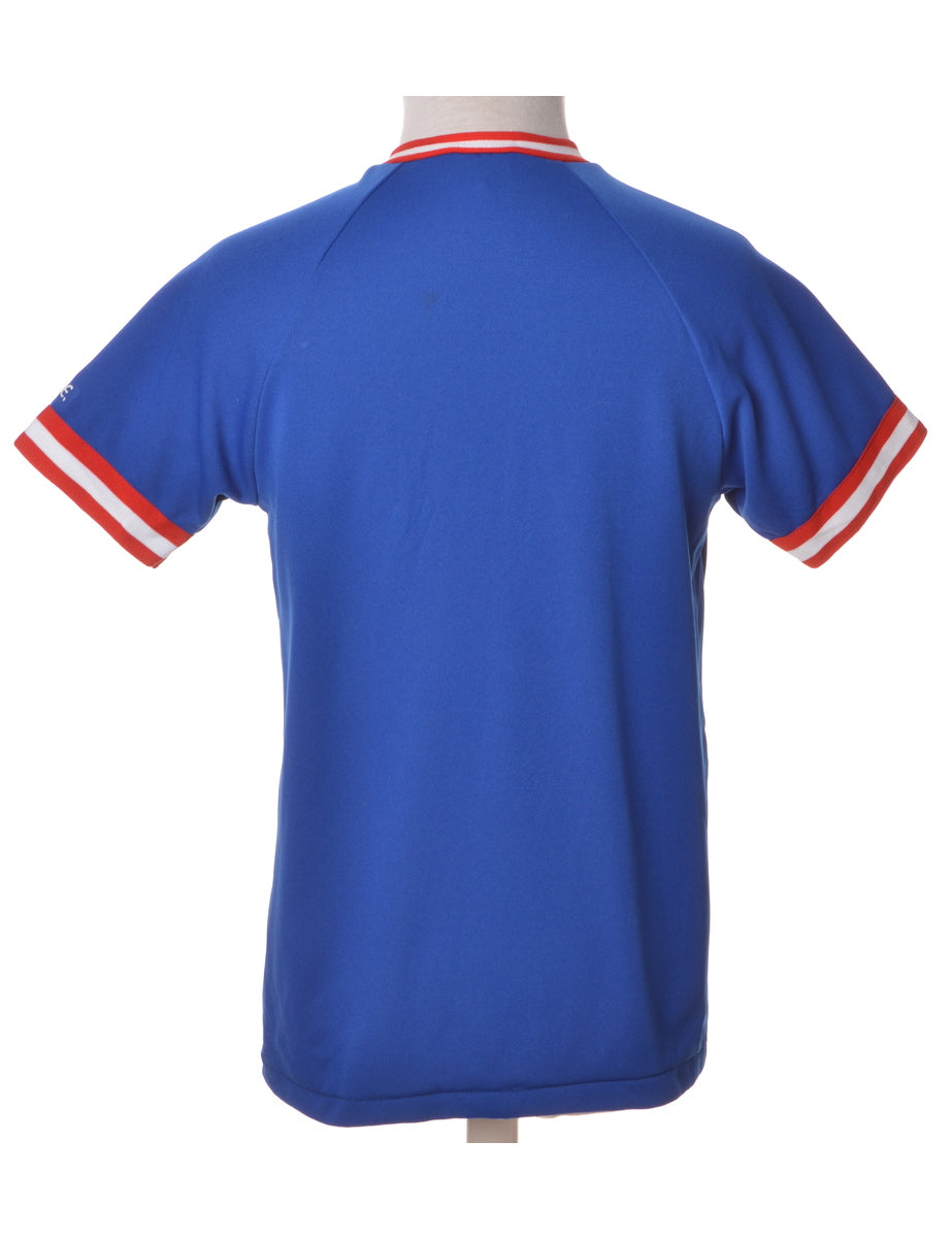 Sports T-shirt Blue With Raglan Sleeves