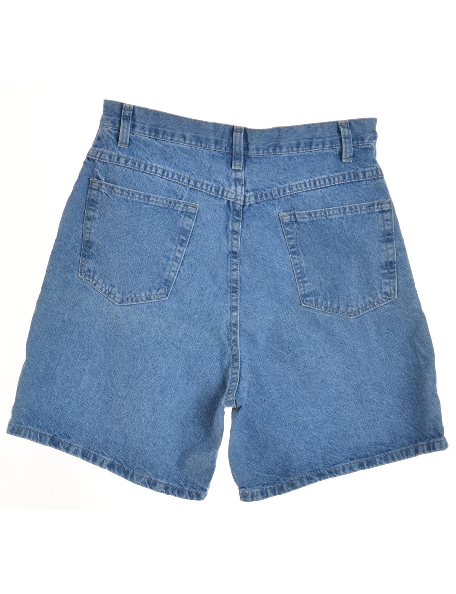 Denim Shorts Stone Wash With Multiple Pockets