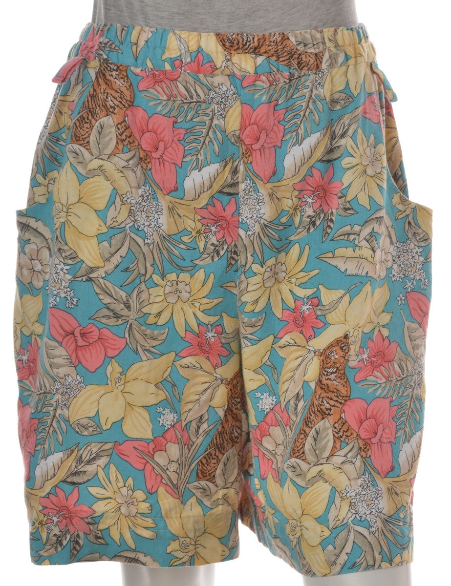 Casual Shorts Multi-colour With An Elasticized Waist