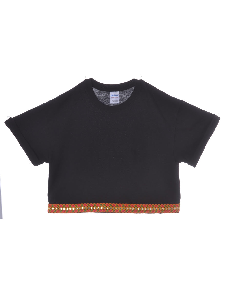 Beyond Retro Label Crop Top