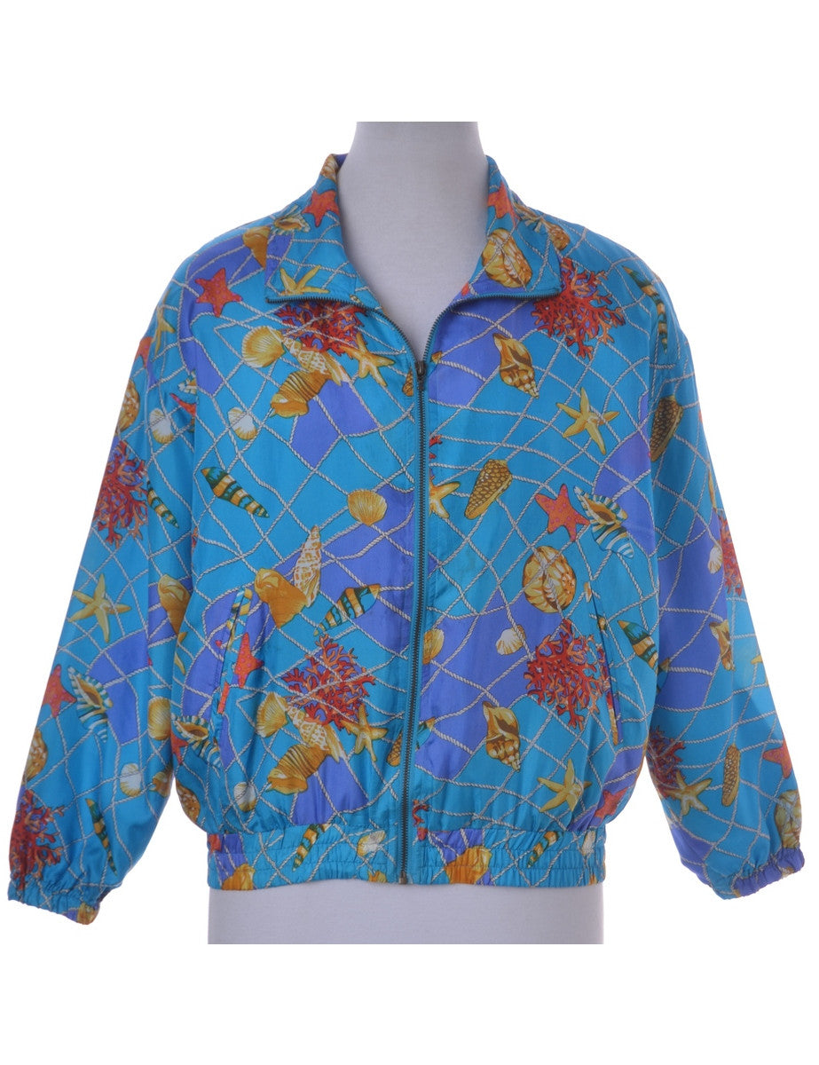 Casual Jacket Light Blue With Removable Shoulder Pads