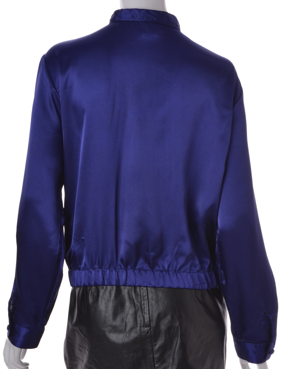 Label Purple Blouse Bomber