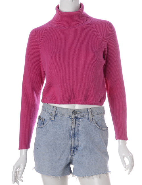 Label Pink Cropped Ribbed Knit