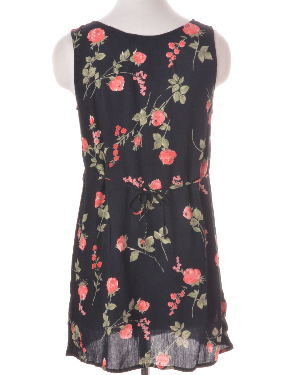 Label Floral Short Dress