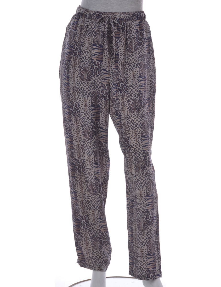 Animal Print Summer Trousers