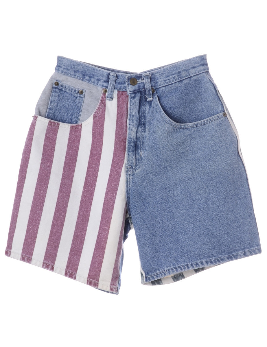 Denim Shorts Medium Wash With Pockets