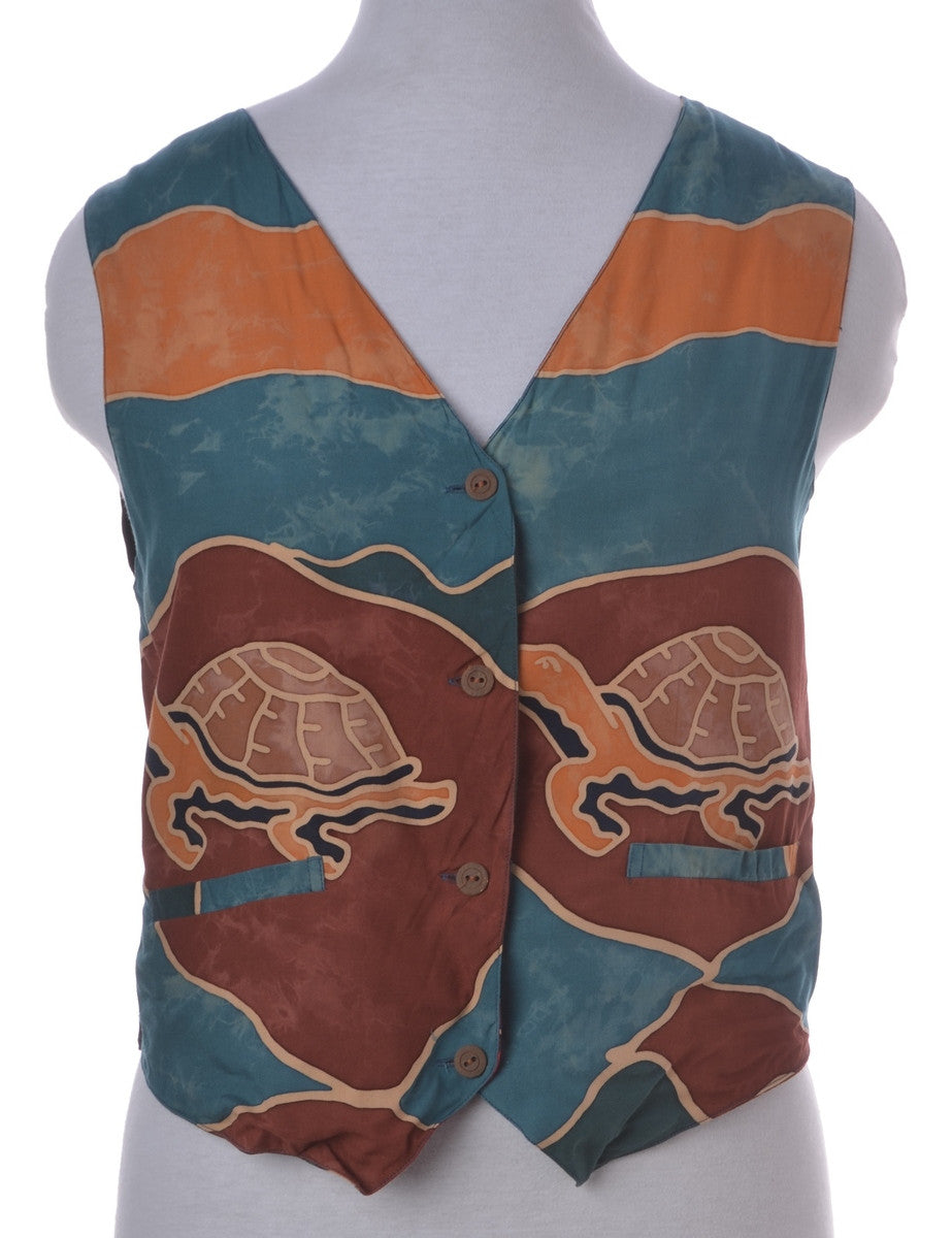 Waistcoat Multi-colour With A Belted Back