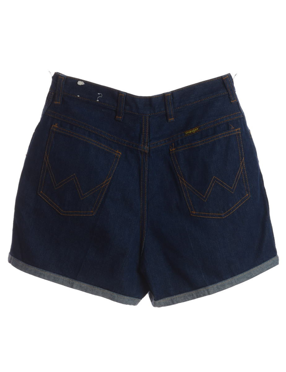 Denim Shorts Indigo With A Cuffed Hem