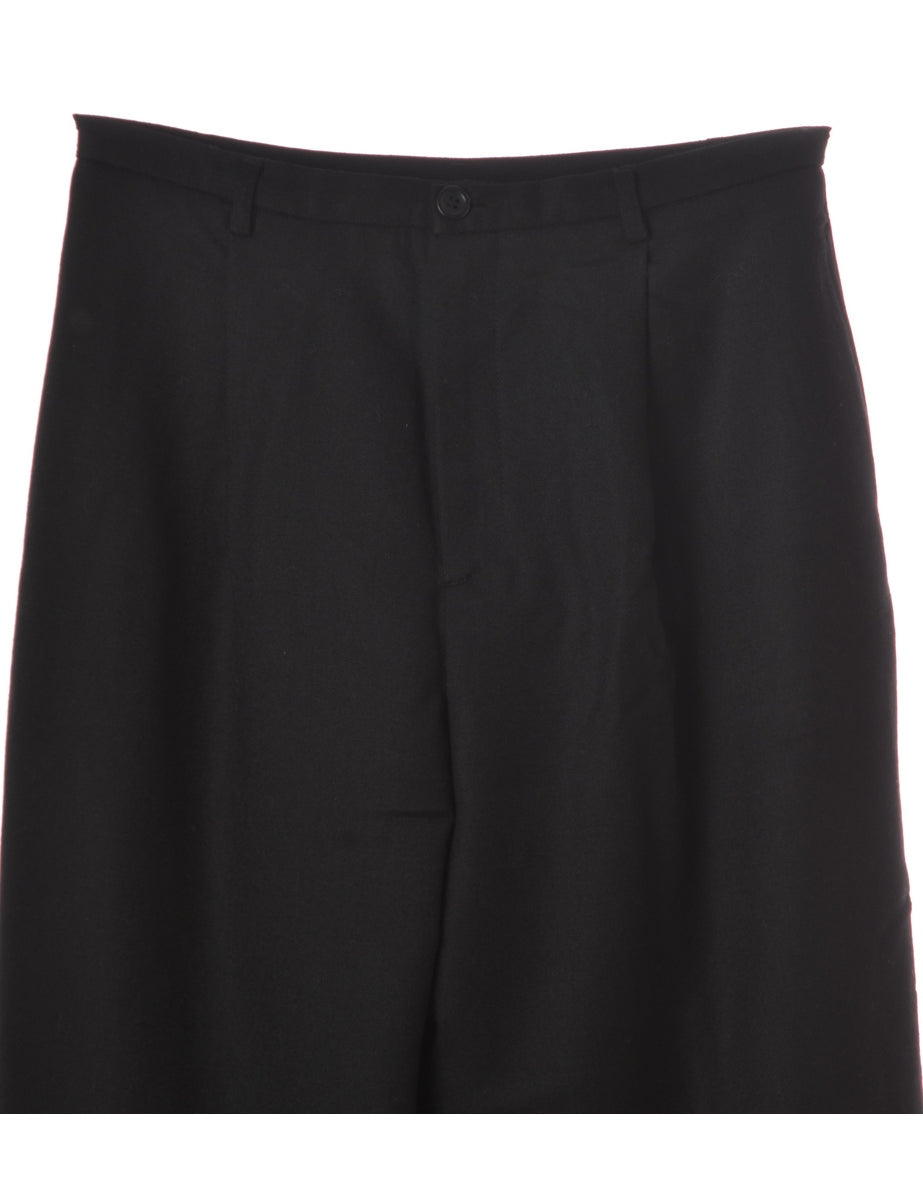 Label Black Womens Cropped Trouser