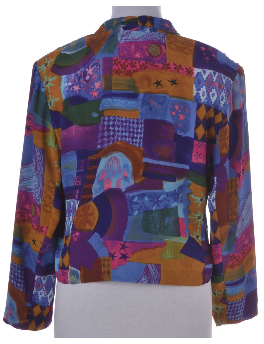 Vintage Casual Jacket Multi-colour With Full Lining