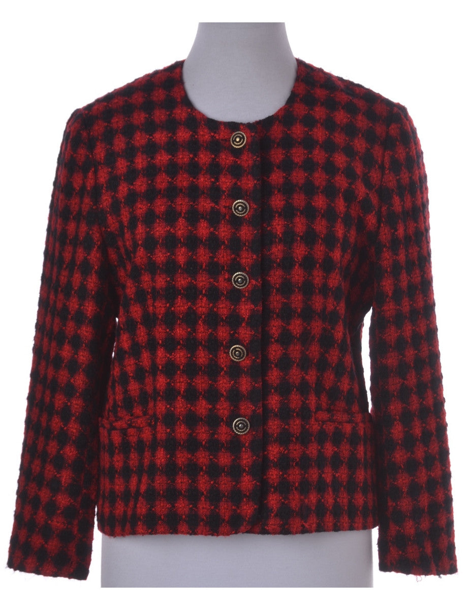Casual Jacket Red With Full Lining