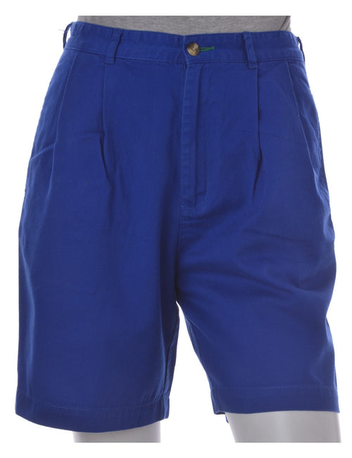 Plain Shorts Blue With Pockets