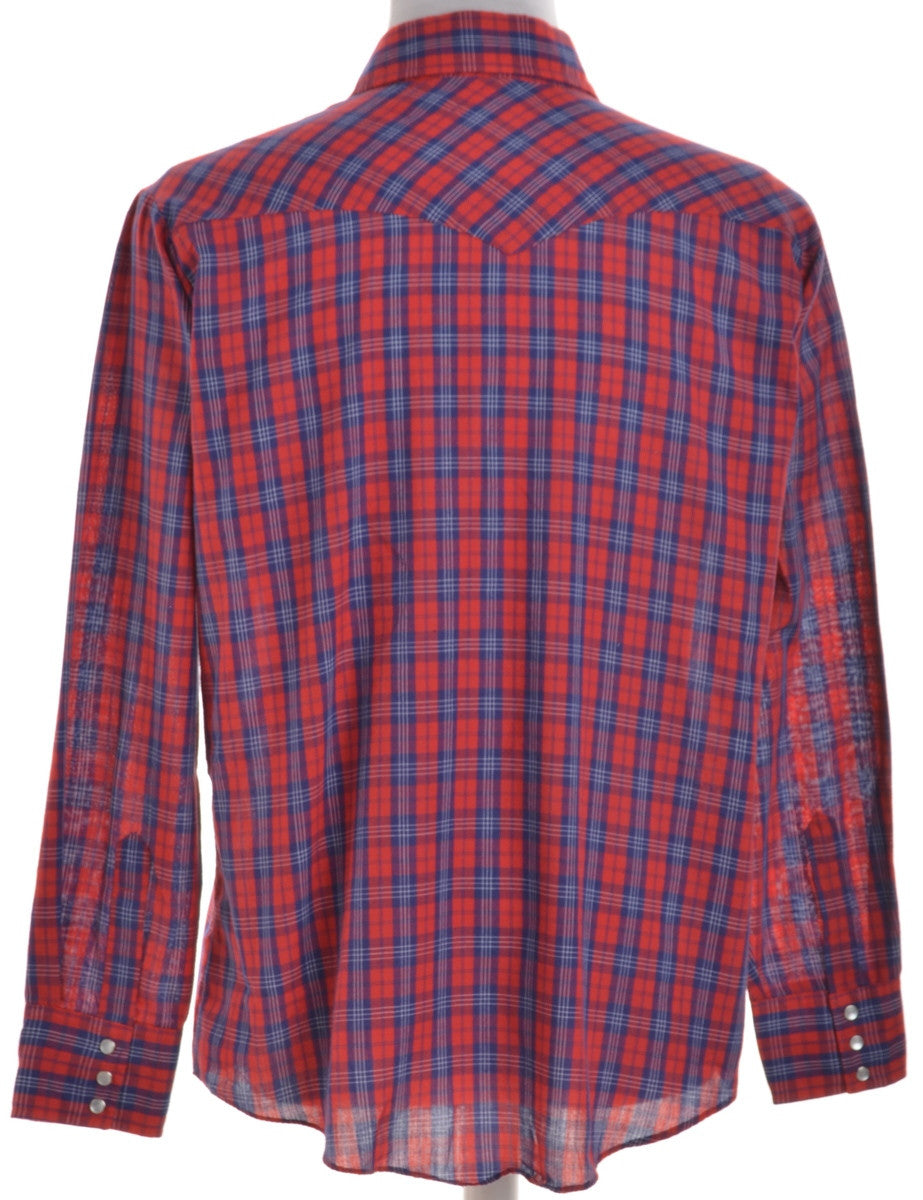 Checked Shirt Red With Two Pockets