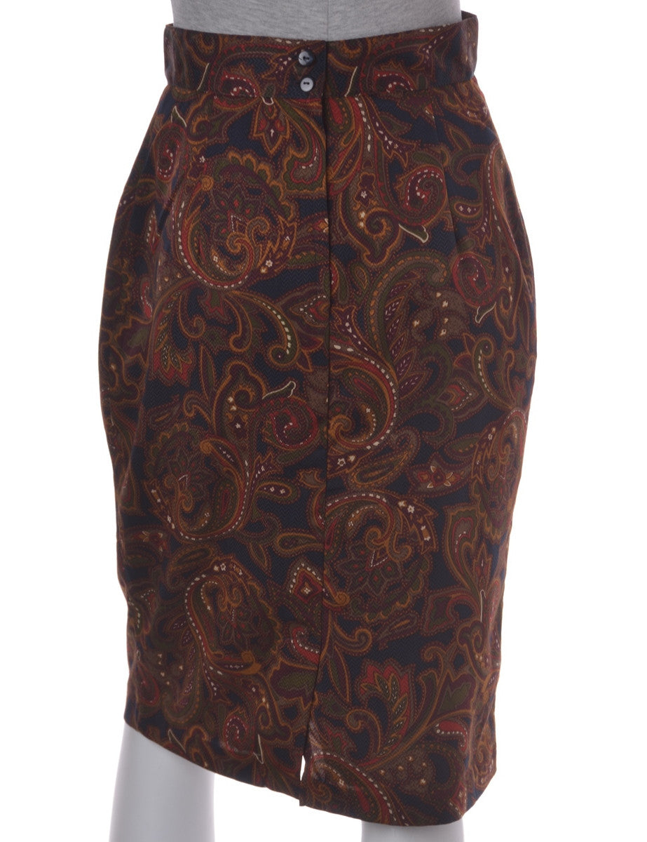 Midi Skirt Multi-colour With Full Lining