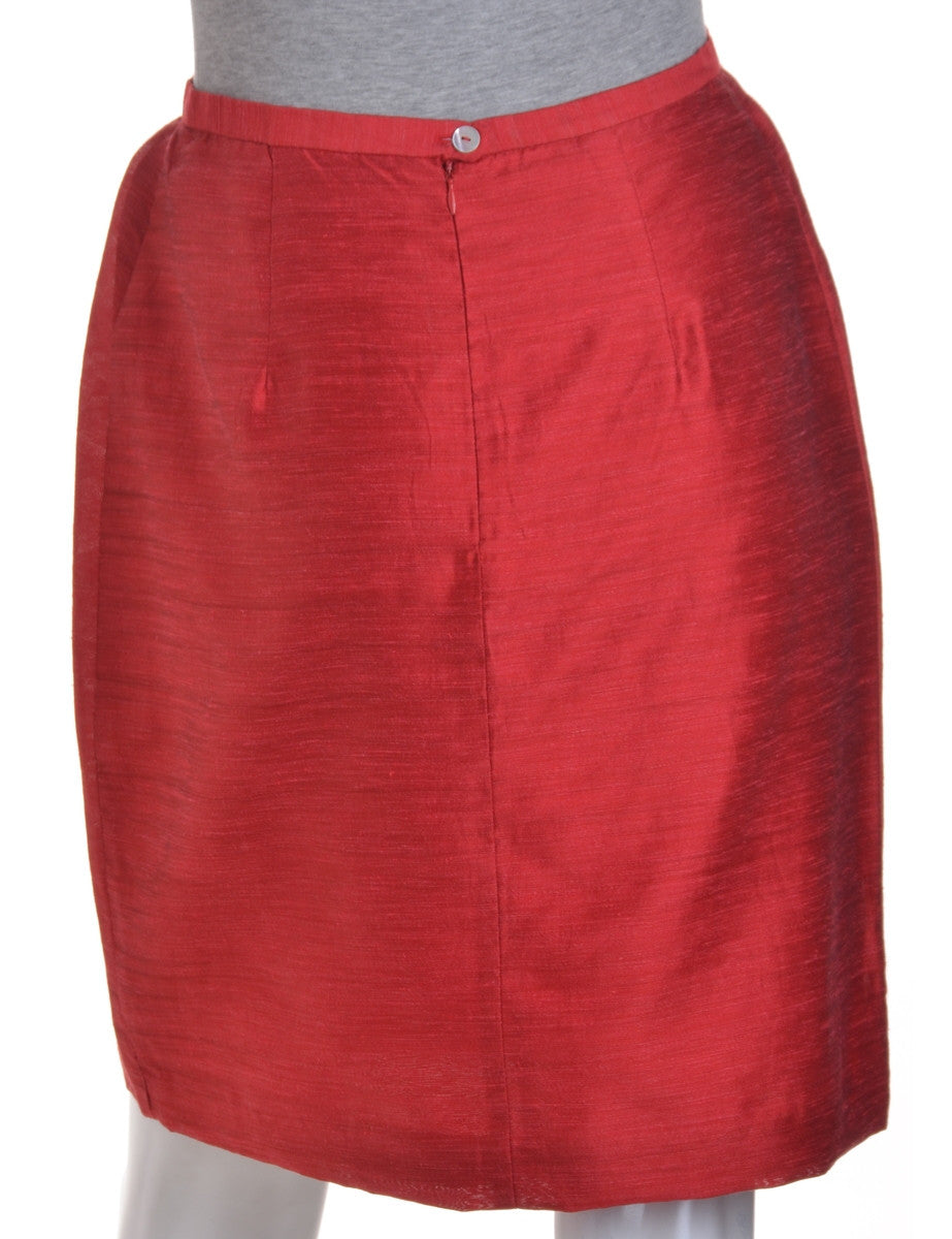 Mini Skirt Red With Full Lining