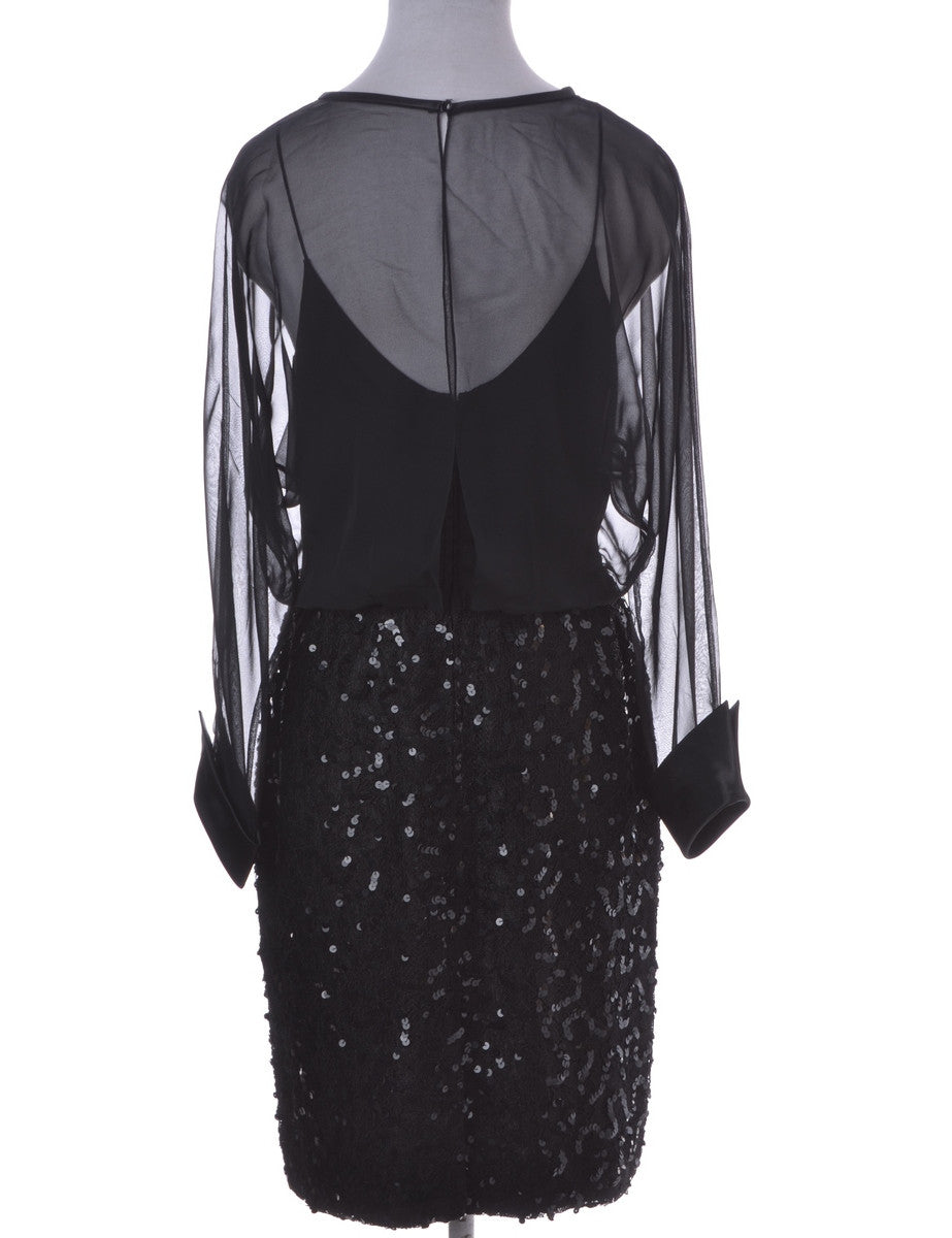 Party Dress Black With Beading