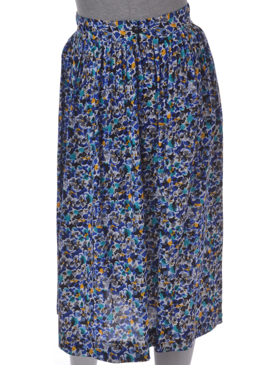 Abstract Print Midi Skirt