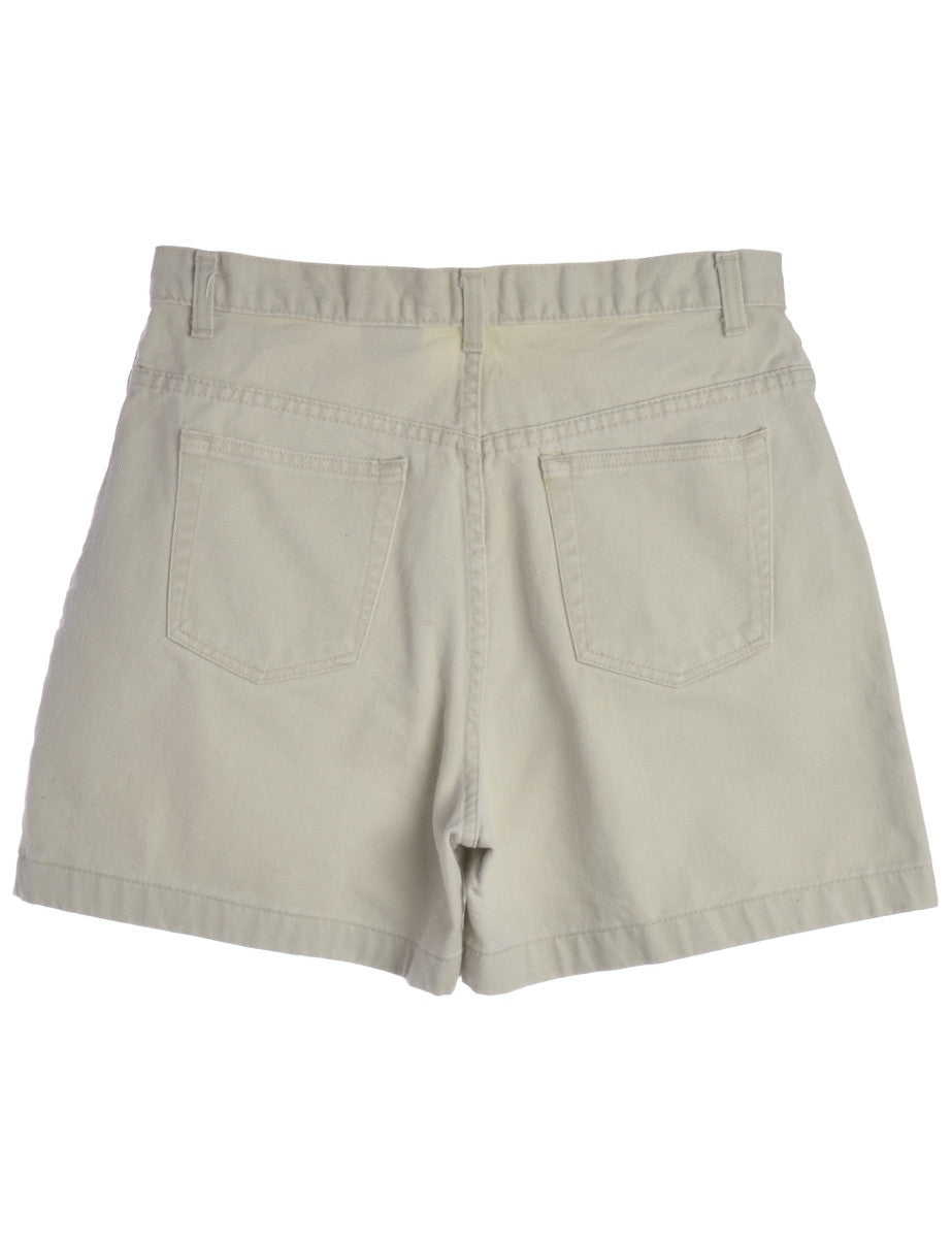 Denim Shorts Off White With Multiple Pockets