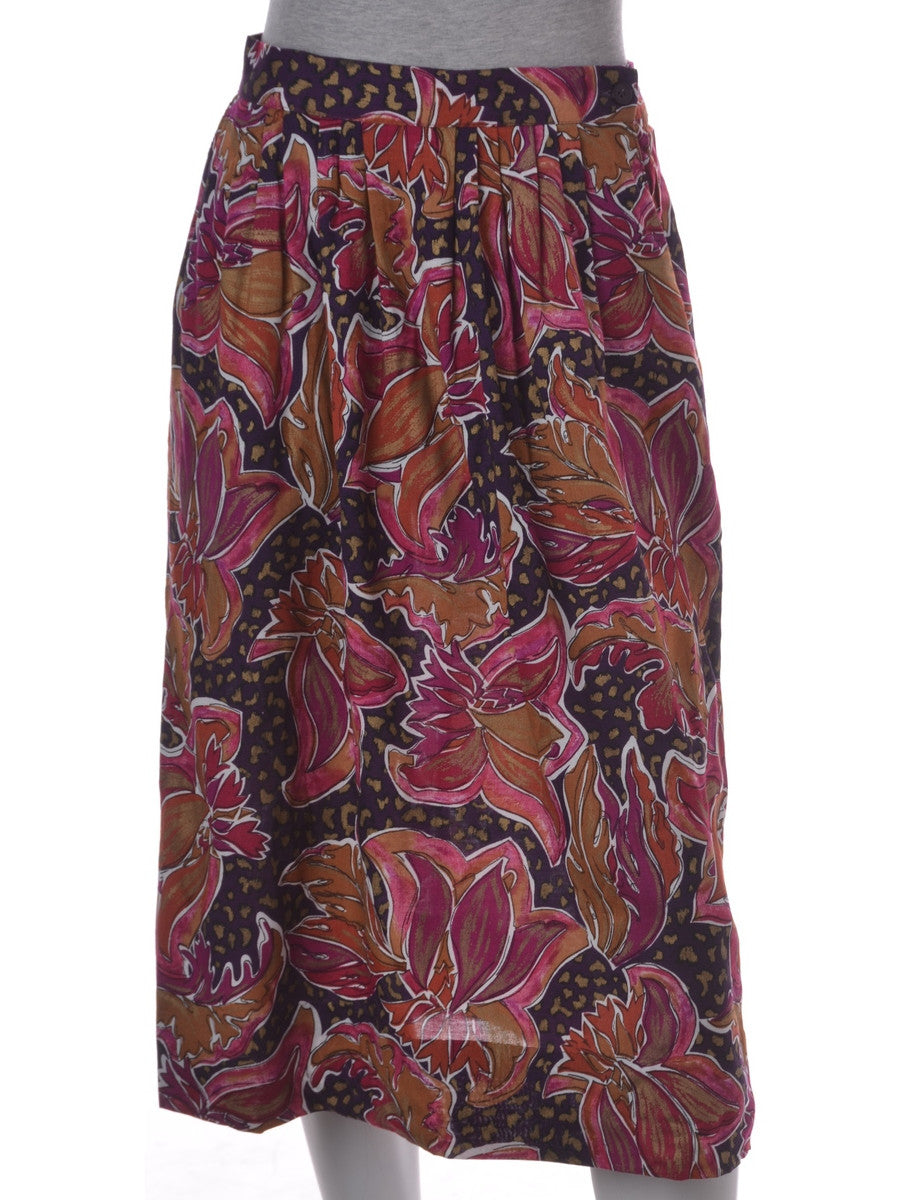 Midi Skirt Multi-colour With An Elasticized Back
