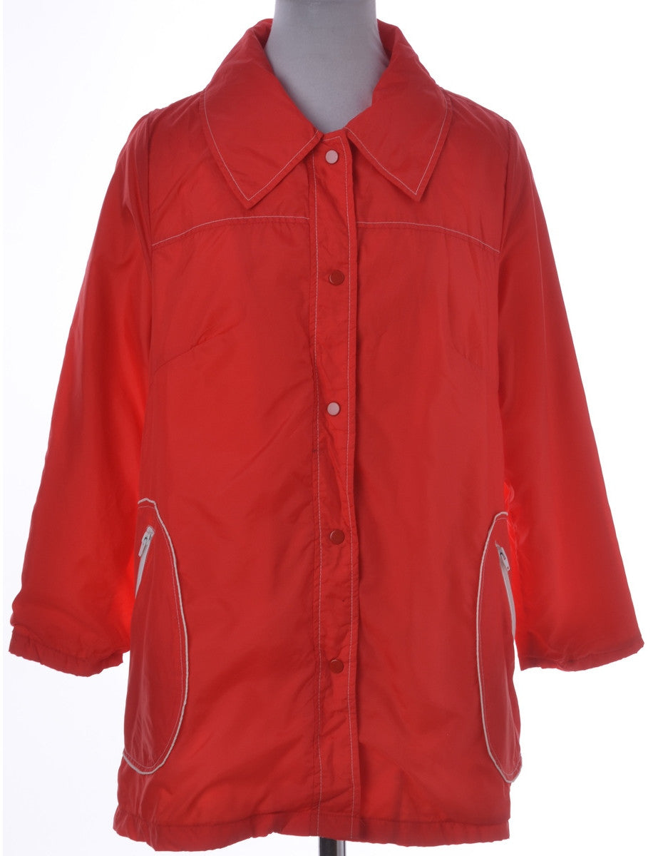 Casual Jacket Red With Pockets