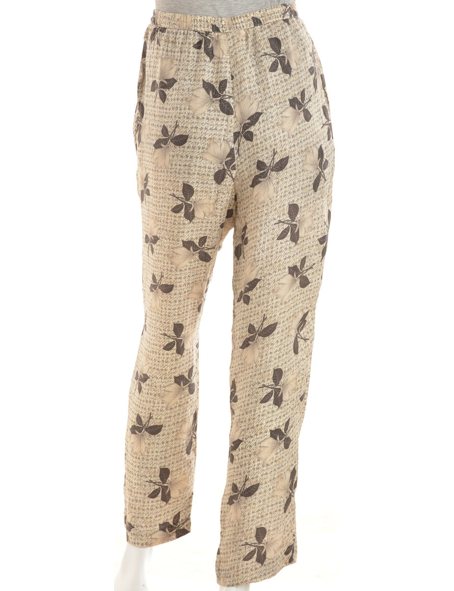 Floral Print Summer Trousers