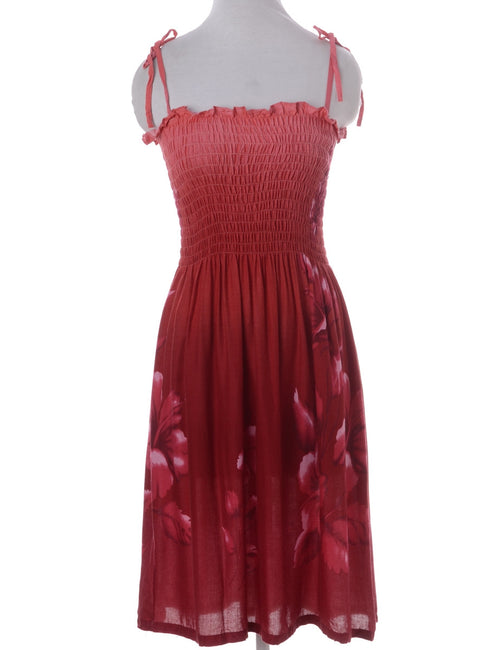 Vintage Summer Dress Red